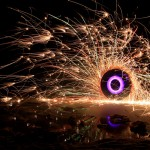 Jason D. Page Light Painting Purple Fire Circle 2