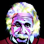 Jason D. Page Light Painting Albert Einstein 2