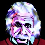 Jason D. Page Light Painting Albert Einstein 3