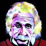 Jason D. Page Light Painting Albert Einstein 5