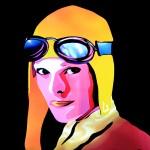 Jason D. Page Light Painting Amelia Earhart 4
